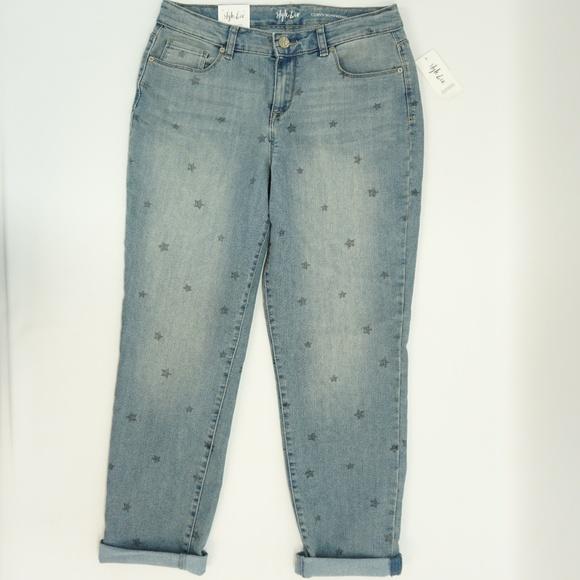 30c5e6726b1 Style Co Star Print Boyfriend Curvy Fit Crop Jeans